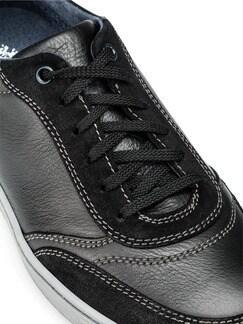 Kalbsleder-Sneaker Schwarz Detail 4