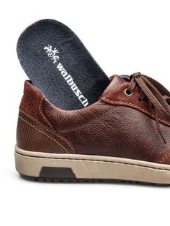 Kalbsleder-Sneaker Cognac Detail 3