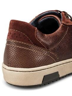 Kalbsleder-Sneaker Cognac Detail 4
