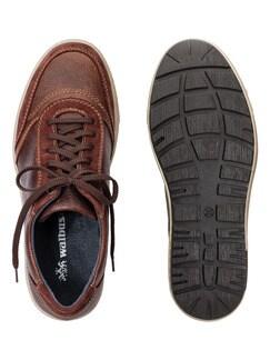 Kalbsleder-Sneaker Cognac Detail 2