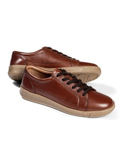 City-Sneaker-Everyday Cognac Detail 1