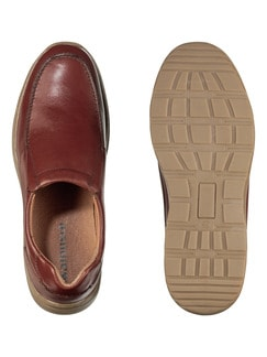 Komfort-Slipper Cognac Detail 2