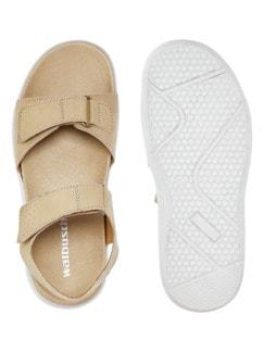 Klett-Sandale Taupe Detail 2