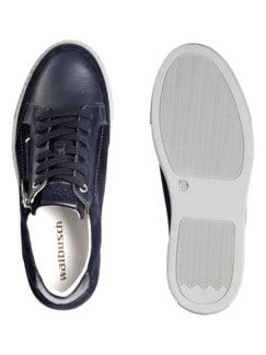 Reißverschluss-Sneaker Blau Detail 2