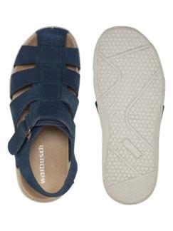 Bäcker-Sandale Blau Detail 2