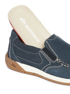 Acitve-Air Nubuk Slipper Blau Detail 3