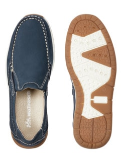 Acitve-Air Nubuk Slipper Blau Detail 2