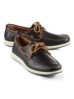 Boots-Schuh Dunkelbraun Detail 1