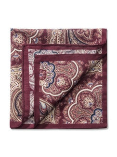 Einstecktuch Paisley Bordeaux Detail 1