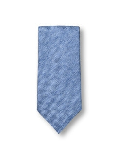 Seidenkrawatte Sommer Uni Blau Detail 1