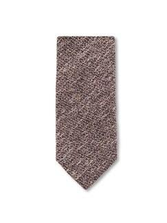 Krawatte Flammgarn Braun Detail 1