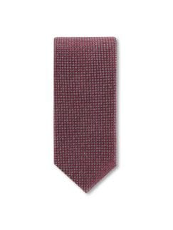 Krawatte Gebürstet Grau/Rot Detail 1
