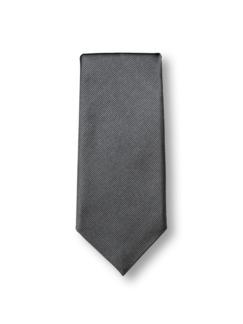 Seidenkrawatte Classic Uni Grau Detail 1