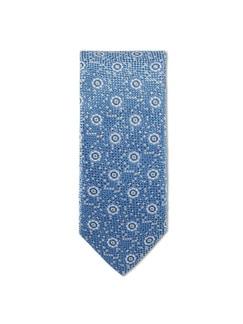 Krawatte Seidenstruktur Hellblau Detail 1