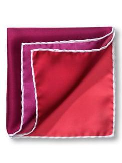 Seideneinstecktuch 4-Farben Rot Detail 1