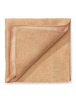 Seideneinstecktuch Sommer Uni Orange Detail 1