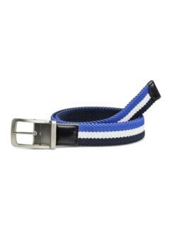 Textil-Wende-Dehngürtel Blau/Grau/Beere Detail 1