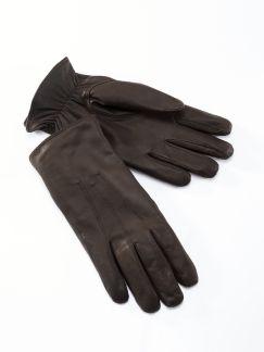 Ziegennappa Handschuhe Dunkelbraun Detail 1