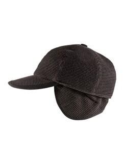Sympatex-Baseballcap Braun/Anthrazit Detail 1