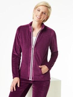 Nicki Homewear Jacke Waldbeere Detail 1