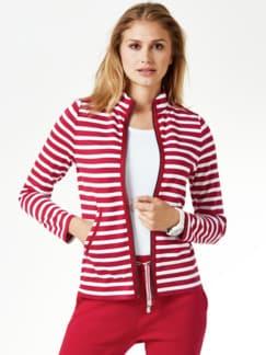 Freizeitjacke Breton-Streifen Rot/Weiß Detail 1