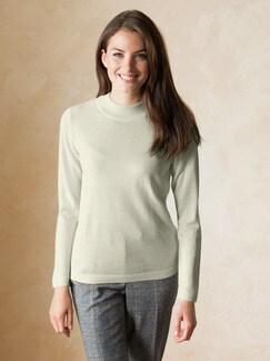 Merino Mix Stehbund-Pullover