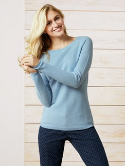 Leicht-Pullover Honeycomb Skyblue Detail 1