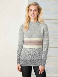 Pullover Binato Offwhite-Rose Detail 1
