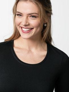 Viskose-Shirt Schwarz Detail 4