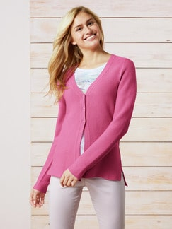 Cardigan Cotton-Crepe Pink Detail 1