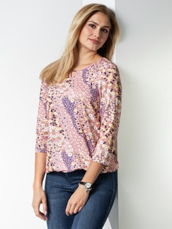 Blouson Shirt Millefleur Altrosa Detail 1