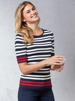 Strickshirt Pima-Cotton Streifen