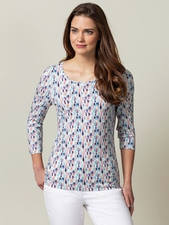 Shirt Frühlingsboten Flamingo/Blau Detail 1