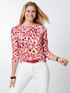 Shirt Aquarelltupfen Orange/Pink Detail 1