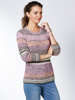 Pullover Mouline-Effekt Pink/Orange Detail 1