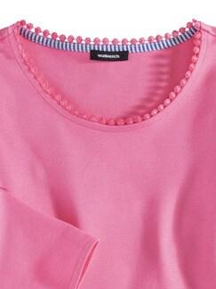 Sweatshirt Lochstickerei Pink Detail 3