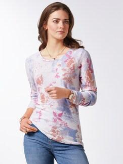 Leicht-Pullover Blumenringel Pink Multicolor Detail 1