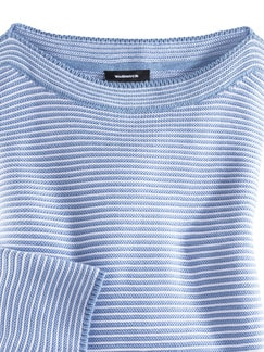 Pima Cotton Pullover Links/Links Skyblue/Weiß Detail 3