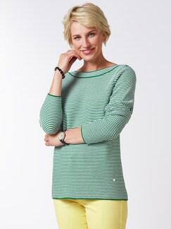 Pima Cotton Pullover Links/Links Grün/Weiß Detail 1