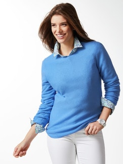 Cashmere Leicht-Pullover Skyblue Detail 1