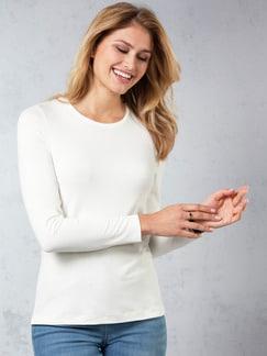 Viskose Shirt Langarm Offwhite Detail 1
