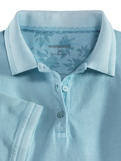 Pique Polo Miami Hellblau Detail 3