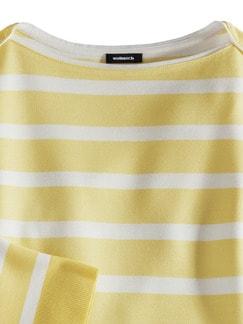 Streifen Sweatshirt 2in1 Gelb/Weiß Detail 3