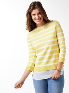 Streifen Sweatshirt 2in1 Gelb/Weiß Detail 1