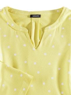 Viskose-Shirt Polka Dot Gelb Detail 3