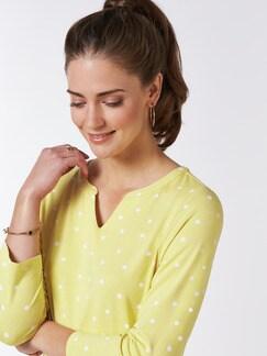 Viskose-Shirt Polka Dot Gelb Detail 4