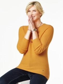 Cashmere Leicht-Pullover Safran Detail 1