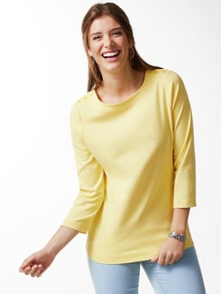 Shirt Soft-Ripp Gelb Detail 1