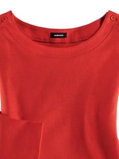 Shirt Soft-Ripp Karminrot Detail 3