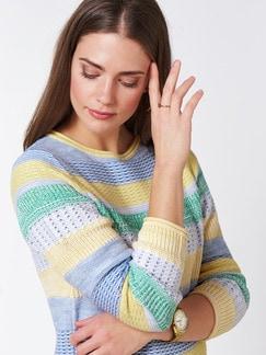 Pullover Quattro Colori Gelb/Grün Detail 4